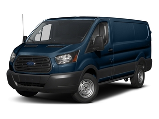 Blue Jeans Metallic 2018 Ford Transit Van Pictures Transit Van T-250 130 Low Rf 9000 GVWR Swing-Out RH Dr photos front view