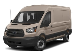 White Gold Metallic 2018 Ford Transit Van Pictures Transit Van T-250 148 Med Rf 9000 GVWR Dual Dr photos front view