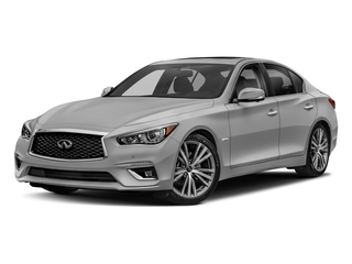 Liquid Platinum 2018 INFINITI Q50 Pictures Q50 Hybrid LUXE RWD photos front view