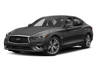 Graphite Shadow 2018 INFINITI Q50 Pictures Q50 Hybrid LUXE RWD photos front view