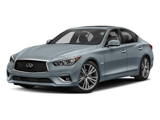 Hagane Blue 2018 INFINITI Q50 Pictures Q50 Hybrid LUXE AWD photos front view