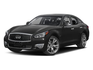 Black Obsidian 2018 INFINITI Q70 Pictures Q70 3.7 LUXE RWD photos front view