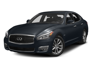 Hermosa Blue 2018 INFINITI Q70 Pictures Q70 Hybrid LUXE RWD photos front view