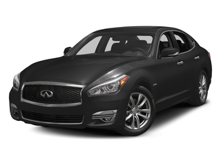 Black Obsidian 2018 INFINITI Q70 Pictures Q70 Hybrid LUXE RWD photos front view