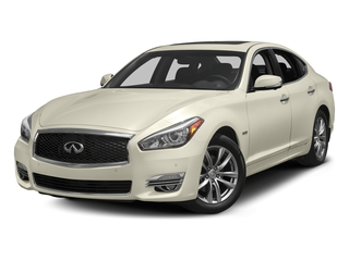 Majestic White 2018 INFINITI Q70 Pictures Q70 Sedan 4D V6 Hybrid photos front view