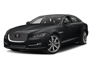 Santorini Black Metallic 2018 Jaguar XJ Pictures XJ XJL Portfolio RWD photos front view