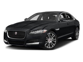 Santorini Black Metallic 2018 Jaguar XF Pictures XF Sedan 20d Prestige AWD photos front view