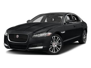 Santorini Black Metallic 2018 Jaguar XF Pictures XF Sedan 25t Prestige RWD photos front view