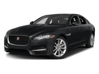 Santorini Black Metallic 2018 Jaguar XF Pictures XF Sedan 25t R-Sport AWD photos front view