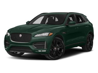 British Racing Green Metallic 2018 Jaguar F-PACE Pictures F-PACE Utility 4D 20d R-Sport AWD photos front view