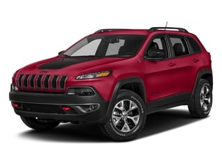 Firecracker Red Clearcoat 2018 Jeep Cherokee Pictures Cherokee Utility 4D Trailhawk 4WD photos front view