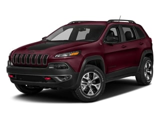 Velvet Red Pearlcoat 2018 Jeep Cherokee Pictures Cherokee Utility 4D Trailhawk 4WD photos front view