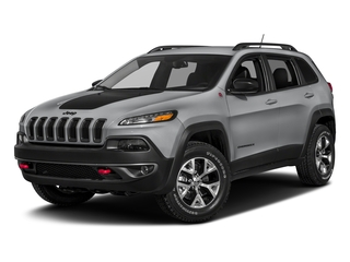 Billet Silver Metallic Clearcoat 2018 Jeep Cherokee Pictures Cherokee Utility 4D Trailhawk 4WD photos front view
