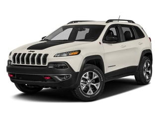 Pearl White Clearcoat 2018 Jeep Cherokee Pictures Cherokee Utility 4D Trailhawk 4WD photos front view