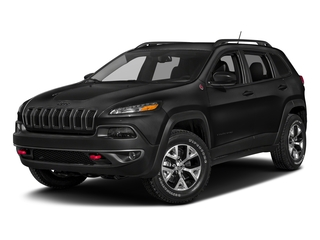 Diamond Black Crystal Pearlcoat 2018 Jeep Cherokee Pictures Cherokee Utility 4D Trailhawk 4WD photos front view