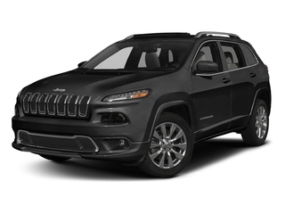 Diamond Black Crystal Pearlcoat 2018 Jeep Cherokee Pictures Cherokee Utility 4D Overland 4WD photos front view