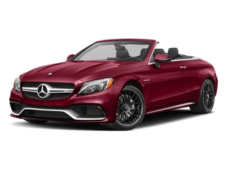 designo Cardinal Red Metallic 2018 Mercedes-Benz C-Class Pictures C-Class AMG C 63 Cabriolet photos front view