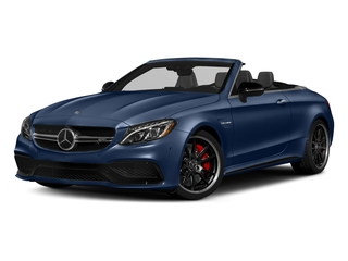 Brilliant Blue Metallic 2018 Mercedes-Benz C-Class Pictures C-Class AMG C 63 S Cabriolet photos front view