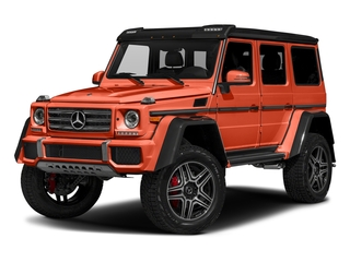 designo Manufaktur Orange Metallic 2018 Mercedes-Benz G-Class Pictures G-Class G 550 4x4 Squared SUV photos front view