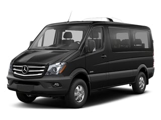 Obsidian Black Metallic 2018 Mercedes-Benz Sprinter Passenger Van Pictures Sprinter Passenger Van 2500 Standard Roof V6 144 4WD photos front view