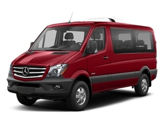 Flame Red 2018 Mercedes-Benz Sprinter Passenger Van Pictures Sprinter Passenger Van 2500 Standard Roof V6 144 4WD photos front view