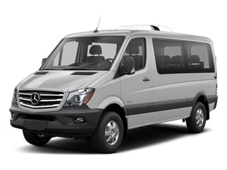 Brilliant Silver Metallic 2018 Mercedes-Benz Sprinter Passenger Van Pictures Sprinter Passenger Van 2500 Standard Roof V6 144 4WD photos front view