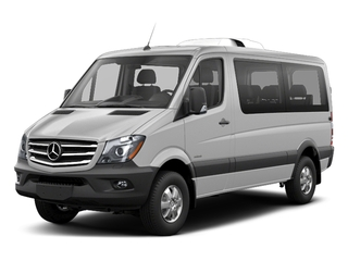 Brilliant Silver Metallic 2018 Mercedes-Benz Sprinter Passenger Van Pictures Sprinter Passenger Van 2500 Standard Roof V6 144 RWD photos front view