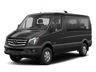 Graphite Gray Metallic 2018 Mercedes-Benz Sprinter Passenger Van Pictures Sprinter Passenger Van 2500 Standard Roof V6 144 4WD photos front view