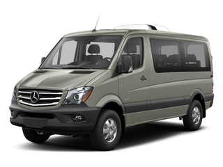 Pearl Silver Metallic 2018 Mercedes-Benz Sprinter Passenger Van Pictures Sprinter Passenger Van 2500 Standard Roof V6 144 4WD photos front view