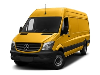 Calcite Yellow 2018 Mercedes-Benz Sprinter Cargo Van Pictures Sprinter Cargo Van 2500 High Roof V6 170 Extended 4WD photos front view