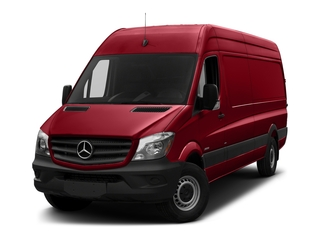 Flame Red 2018 Mercedes-Benz Sprinter Cargo Van Pictures Sprinter Cargo Van 2500 High Roof V6 170 Extended 4WD photos front view