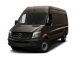 Dolomite Brown Metallic 2018 Mercedes-Benz Sprinter Cargo Van Pictures Sprinter Cargo Van 2500 High Roof V6 170 Extended 4WD photos front view