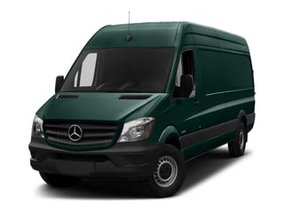 Aqua Green 2018 Mercedes-Benz Sprinter Cargo Van Pictures Sprinter Cargo Van 2500 High Roof V6 170 Extended 4WD photos front view