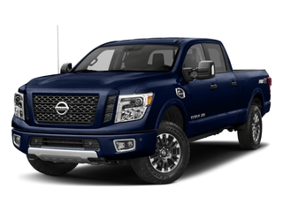 Deep Blue Pearl 2018 Nissan Titan XD Pictures Titan XD Crew Cab PRO-4X 4WD photos front view