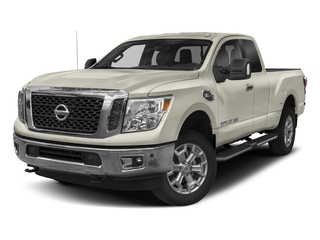 Glacier White 2018 Nissan Titan XD Pictures Titan XD 4x2 Gas King Cab S photos front view
