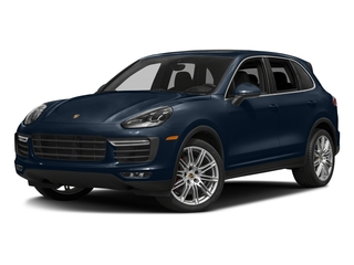 Moonlight Blue Metallic 2018 Porsche Cayenne Pictures Cayenne Utility 4D AWD V8 Turbo photos front view