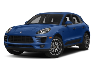 Sapphire Blue Metallic 2018 Porsche Macan Pictures Macan Turbo AWD w/Performance Pkg photos front view