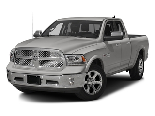 Bright Silver Metallic Clearcoat 2018 Ram Truck 1500 Pictures 1500 Laramie 4x4 Quad Cab 6'4 Box photos front view