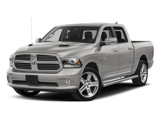 Bright Silver Metallic Clearcoat 2018 Ram Truck 1500 Pictures 1500 Night 4x4 Crew Cab 6'4 Box *Ltd Avail* photos front view