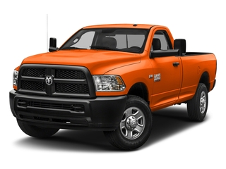 Omaha Orange 2018 Ram Truck 3500 Pictures 3500 Tradesman 4x2 Reg Cab 8' Box photos front view