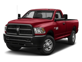 Flame Red Clearcoat 2018 Ram Truck 3500 Pictures 3500 Tradesman 4x2 Reg Cab 8' Box photos front view