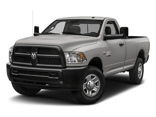 Bright Silver Metallic Clearcoat 2018 Ram Truck 3500 Pictures 3500 Tradesman 4x2 Reg Cab 8' Box photos front view