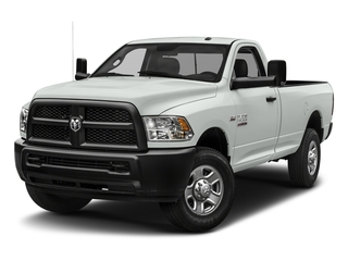 Bright White Clearcoat 2018 Ram Truck 3500 Pictures 3500 Tradesman 4x2 Reg Cab 8' Box photos front view