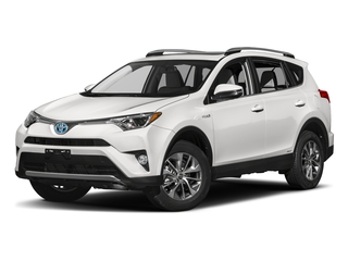 Super White 2018 Toyota RAV4 Pictures RAV4 Utility 4D XLE AWD I4 Hybrid photos front view