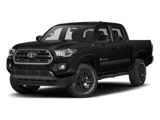 Midnight Black Metallic 2018 Toyota Tacoma Pictures Tacoma SR5 Crew Cab 4WD V6 photos front view