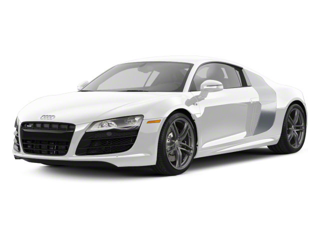 Ibis White With Ice Silver Sideblades 2010 Audi R8 Pictures R8 2 Door Coupe Quattro 5.2l (manual) photos front view