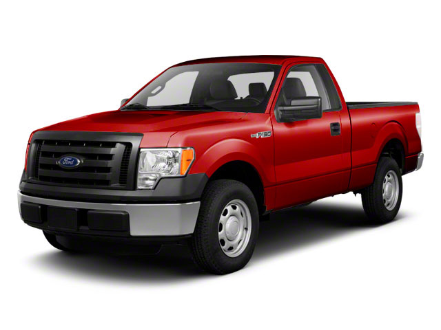 Vermillion Red 2010 Ford F-150 Pictures F-150 Regular Cab XLT 2WD photos front view