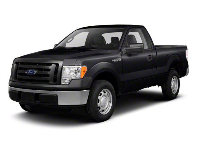 Tuxedo Black 2010 Ford F-150 Pictures F-150 Regular Cab XLT 2WD photos front view