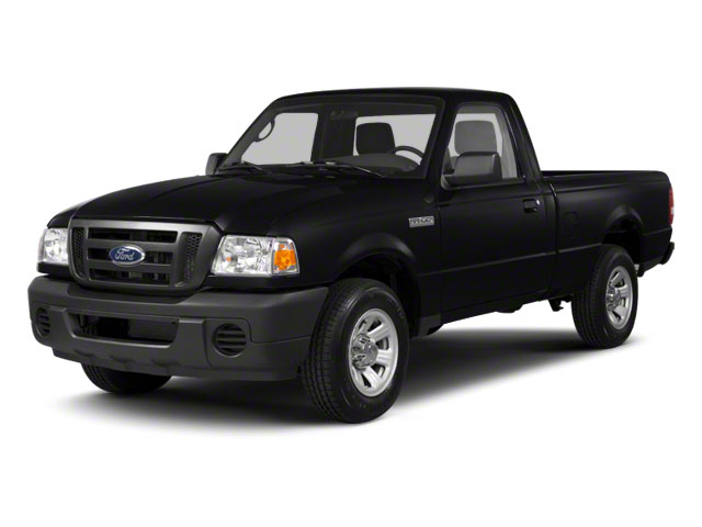 Black 2010 Ford Ranger Pictures Ranger Regular Cab XLT (4 Cyl.) photos front view