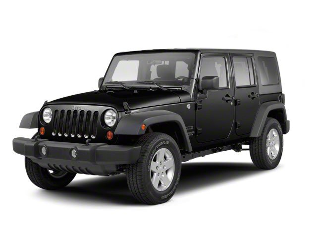 Black 2010 Jeep Wrangler Unlimited Pictures Wrangler Unlimited Utility 4D Unlimited Sport 4WD photos front view